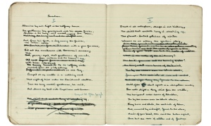 Snapshot of notebook sold in December 2014 at Sotheby's